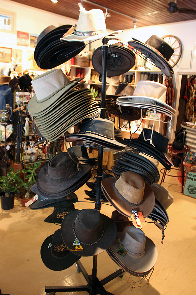 Traditional and modern style cowboy hats.