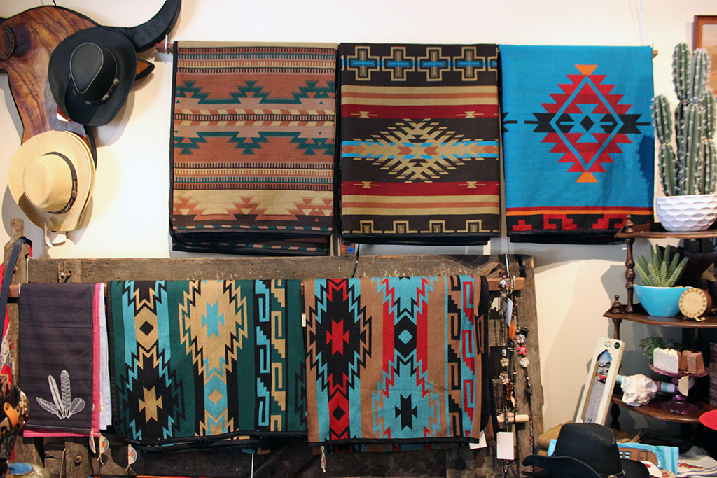 Mexican style colourful blankets