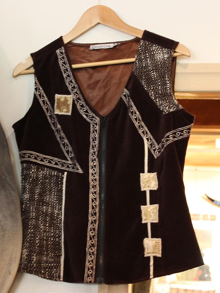 Beautiful brown suede ladies vest